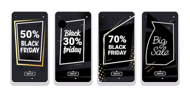 Bannière de vente vendredi noir pour les histoires instagram