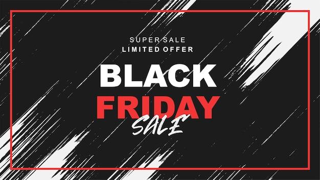 Bannière de vente vendredi noir avec splash noir a