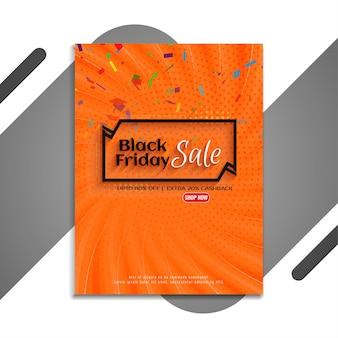 Bannière de vente vendredi noir avec vecteur de confettis colorés