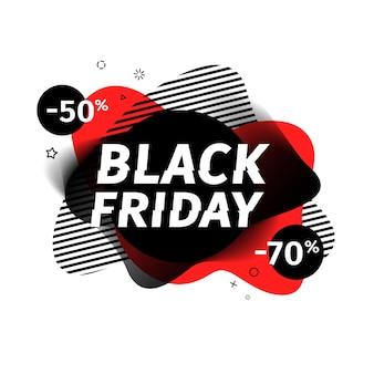Bannière de vente vendredi noir.