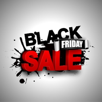 Bannière de vente vendredi noir
