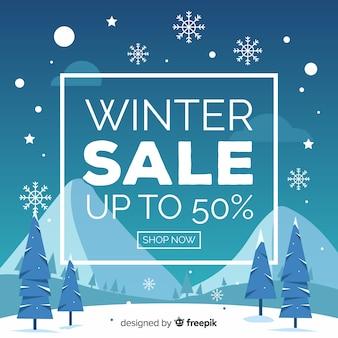 Bannière des ventes d'hiver