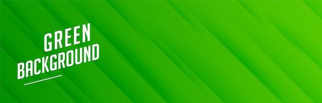 Bannière verte avec motif de rayures diagonales