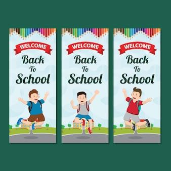Bannière verticale bienvenue à l'école