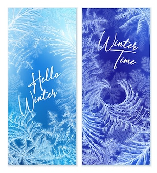Bannière verticale d'hiver