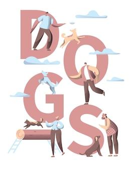 Bannière verticale de typographie de chien de compagnie.