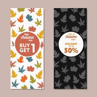 Bannière verticale de vente d'automne