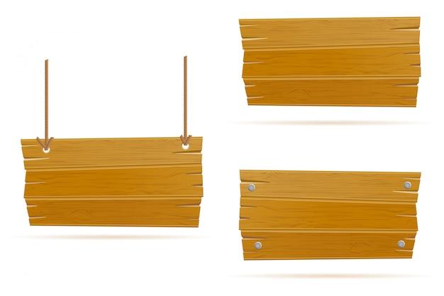 Bannière vide en bois ancien rétro planche vintage