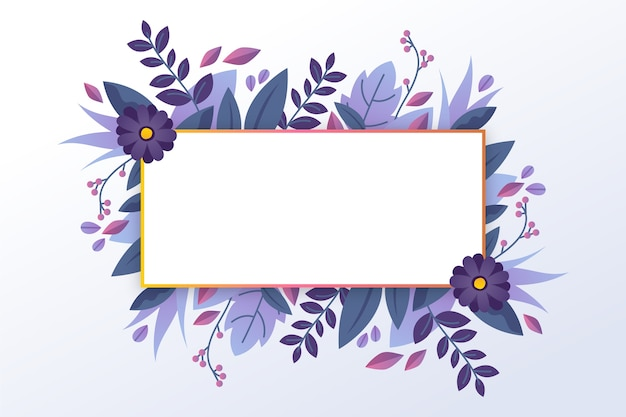 Bannière vide avec la botanique d'hiver