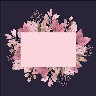 Bannière vide avec des fleurs d'hiver