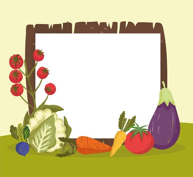 Bannière vierge de légumes