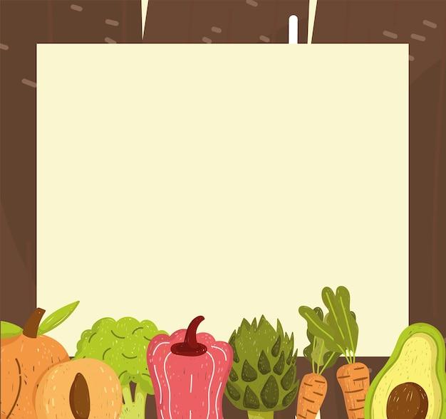 Bannière vierge avec des légumes