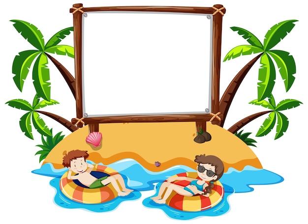 Bannière vierge avec thème de l'été
