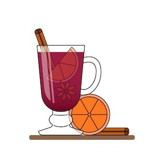 Bannière de vin chaud