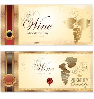 Bannière de vin