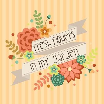 Bannière vintage de fleurs