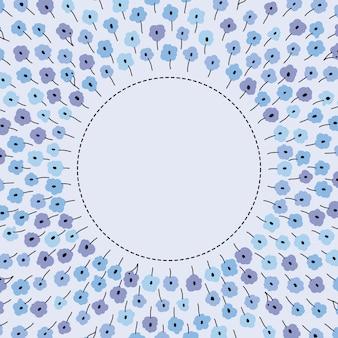 Bannière vintage florale avec la place pour votre texte. fonds d'écran rétro