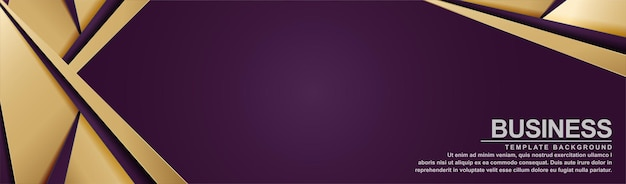 Bannière violette élégante avec style de forme de ligne