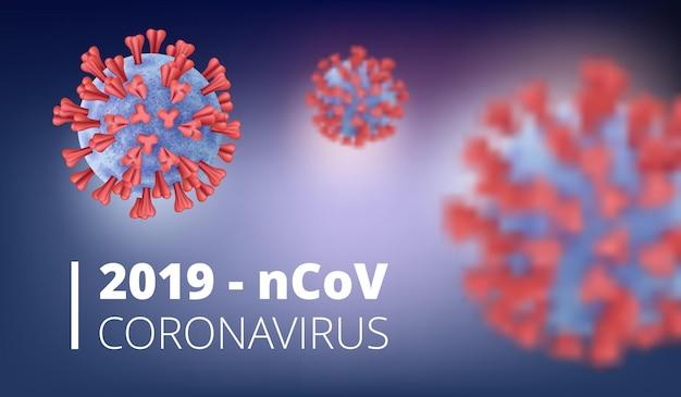 Bannière de virus réaliste 2019-ncov