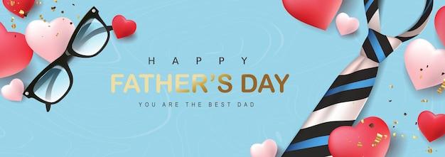 Bannière de voeux bonne fête des pères