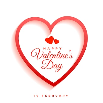 Bannière de voeux élégante saint valentin