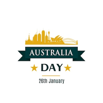 Bannière de voeux pour la fête de l'australie