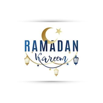 Bannière de voeux ramadan kareem.