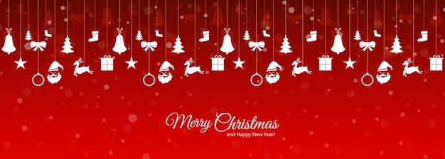 Bannière de voeux de vacances noël et nouvel an