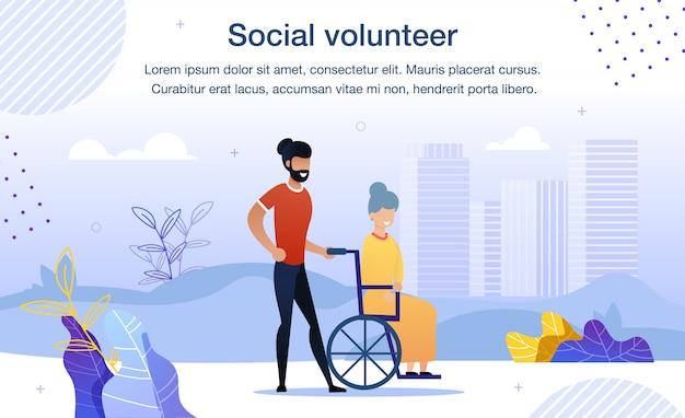 Bannière de volontariat pour les personnes handicapées
