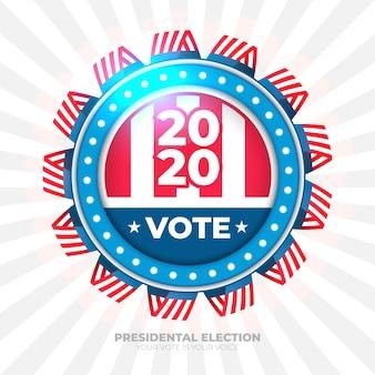 Bannière de vote 2020 pour l'élection présidentielle