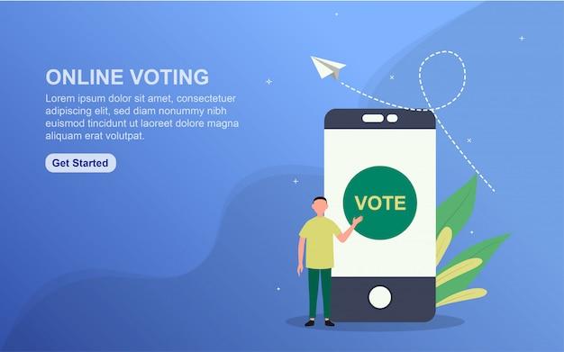 Bannière de vote en ligne