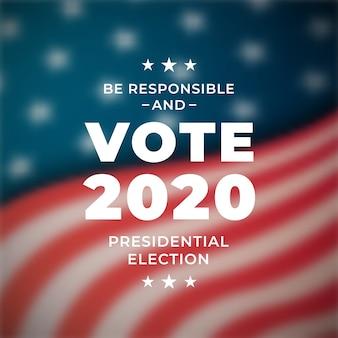 Bannière de vote pour l'élection présidentielle