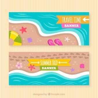 Bannière de voyage d'été