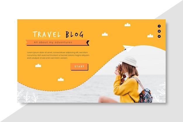 Bannière de voyage horizontale pour blog