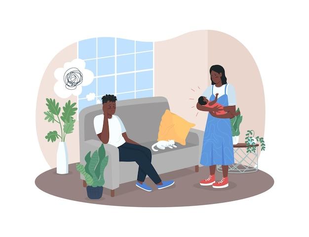 Bannière web 2d sur la dépression post-natale
