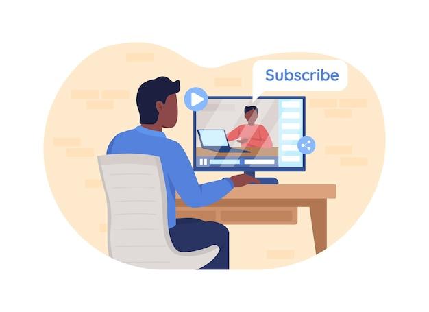 Bannière web 2d en ligne pour ordinateur portable, affiche