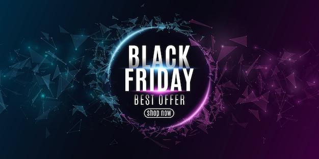 Bannière web abstraite pour la vente du black friday.