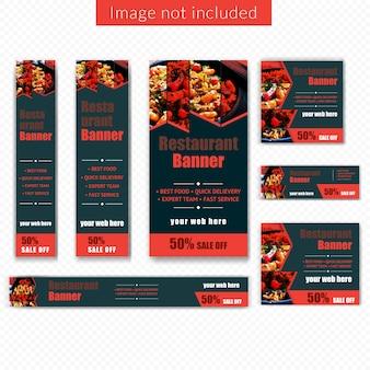 Bannière web alimentaire pour le restaurant