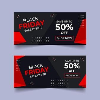 Bannière web black friday bannière de médias sociaux black friday bundle offre promotion vente bannière