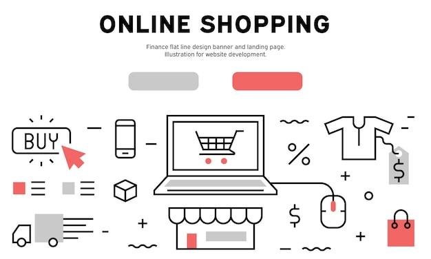 Bannière web de la boutique en ligne