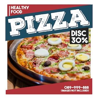 Bannière web carrée pour aliments promotionnels moderne