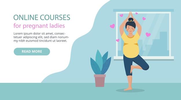 Bannière web cours en ligne pour femmes enceintes