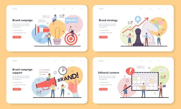 Bannière web ou ensemble de pages de destination de la campagne de marque