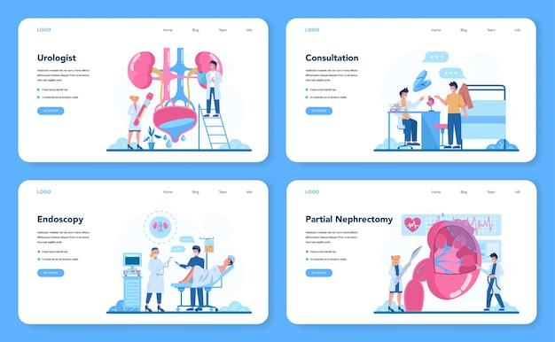 Bannière web ou ensemble de pages de destination d'urologue