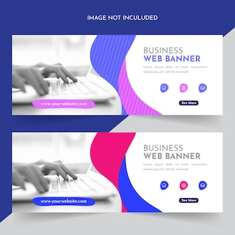 Bannière web d'entreprise