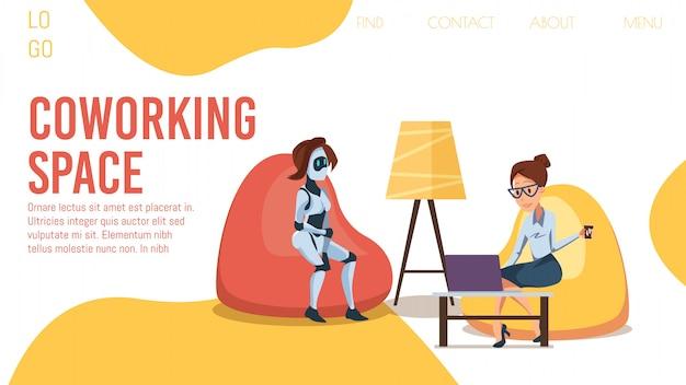 Bannière web flt innovante pour le bureau de coworking