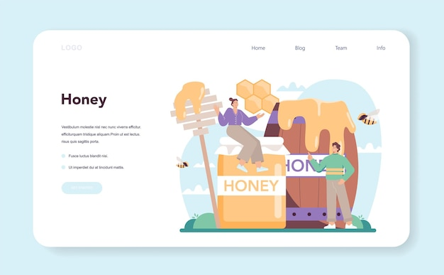 Bannière web hiver ou apiculteur ou page de destination agriculteur professionnel