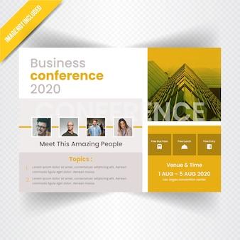 Bannière web horizontale de conférences d'affaires