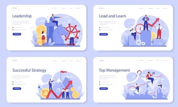 Bannière web de leadership ou ensemble de pages de destination