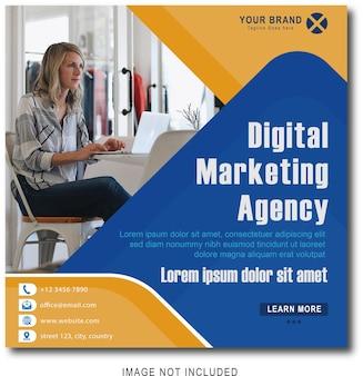 Bannière web de marketing d'entreprise numérique sur les médias sociaux post amp
